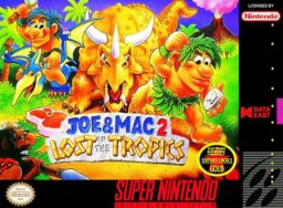 Joe & Mac 2: Lost in the Tropics SNES front cover