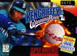 Ken Griffey Jr.'s Winning Run SNES front cover