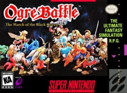 Ogre Battle: The March of the Black Queen SNES front cover