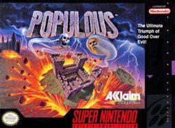 Populous (SNES) front cover
